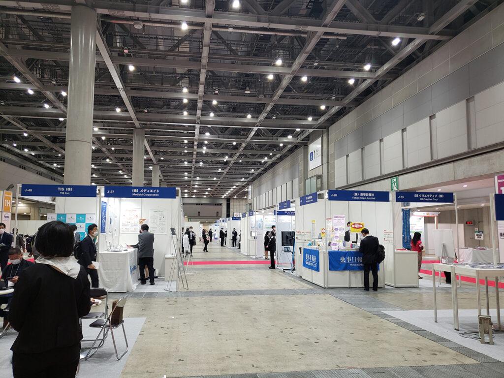 国際医薬品開発展2021_最終日の会場内